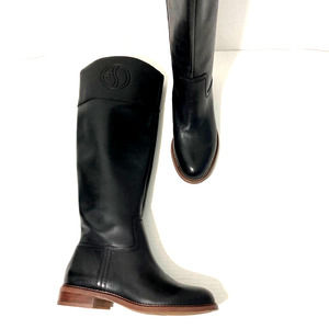 FRANCO SARTO Black Leather Equestrian Boots